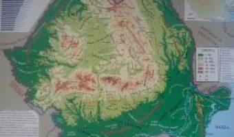 Pret Carte Harta fizica a Romaniei + Harta administrativa a Romaniei 1:2.300.000
