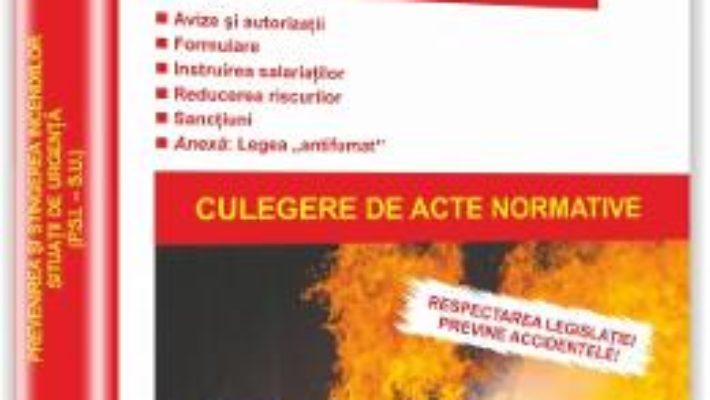 Pret Carte Prevenirea si stingerea incendiilor: situatii de urgenta