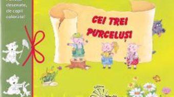 Cartea Cei trei purcelusi – Povesti desenate, de copii colorate (download, pret, reducere)