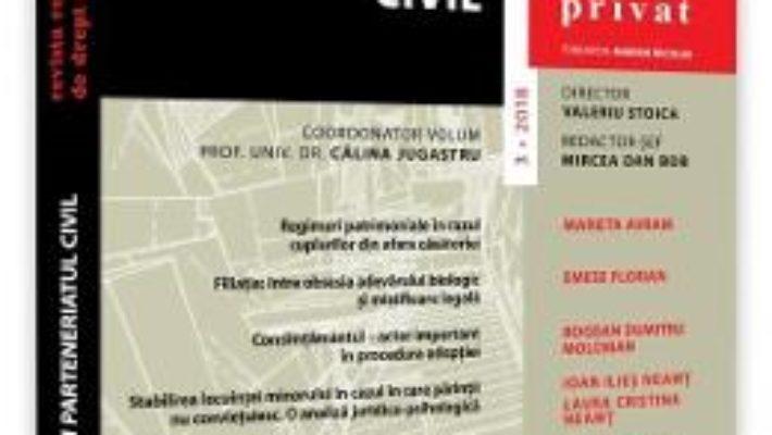 Cartea Revista romana de drept privat nr. 3/2018 (download, pret, reducere)