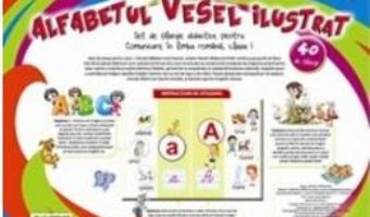 Cartea Alfabetul vesel ilustrat – 40 de planse (download, pret, reducere)