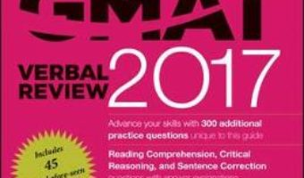 Cartea The Official Guide for GMAT Verbal Review 2017 with Online Question Bank and Exclusive Video (download, pret, reducere)