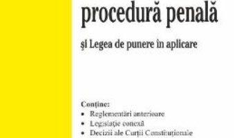 Cartea Codul de procedura penala ed.8 Act. 2.10.2018 (download, pret, reducere)