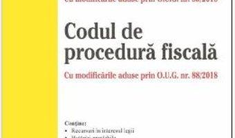 Cartea Codul fiscal. Codul de procedura fiscala act. 4 noiembrie 2018 (download, pret, reducere)