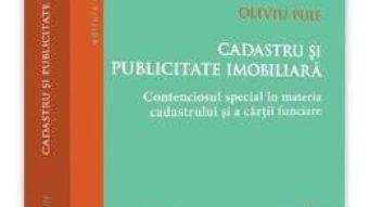 Cartea Cadastru si publicitate imobiliara – Oliviu Puie (download, pret, reducere)