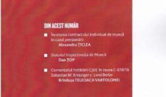 Cartea Revista Romana de dreptul muncii nr 1/2019 (download, pret, reducere)