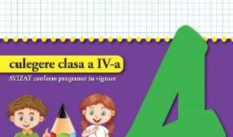 Cartea Matematica – Clasa 4 – Culegere – Valentina Stefan-Caradeanu (download, pret, reducere)