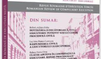 Cartea Revista romana de executare silita. Nr.1 din 2019 (download, pret, reducere)