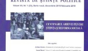 Cartea Polis Vol.7 Nr.1 (23).Serie noua. Decembrie 2018 – Februarie 2019. Revista de stiinte politice (download, pret, reducere)