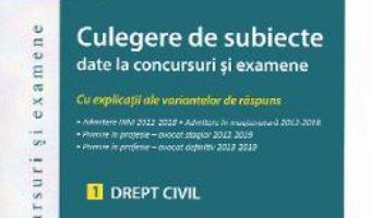 Cartea Culegere de subiecte date la concursuri si examene. Drept civil – Tudor-Vlad Radulescu (download, pret, reducere)