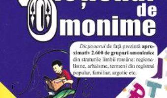 Cartea Dictionar de omonime – Marin Buca, Mariana Cernicova (download, pret, reducere)