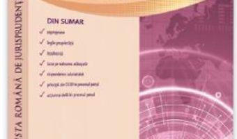 Cartea Revista romana de jurisprudenta Nr. 2 din 2019 (download, pret, reducere)