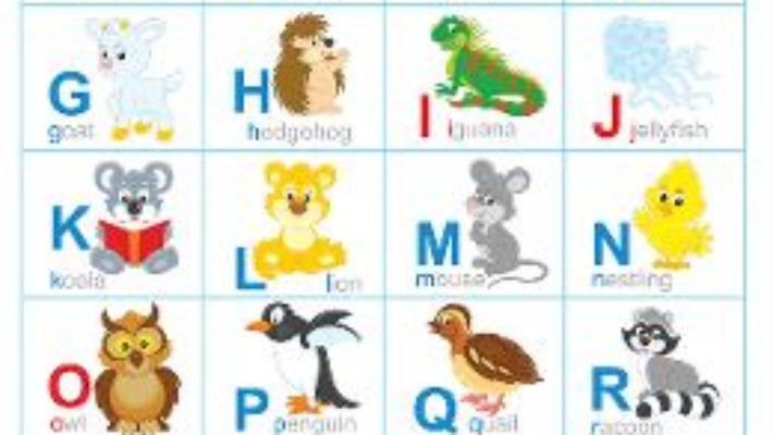 Cartea Alfabetul animalelor in limba engleza. Plansa (download, pret, reducere)