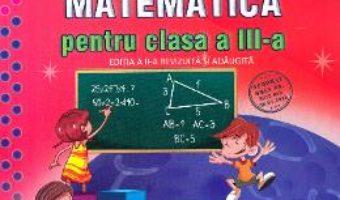 Cartea Culegere de matematica – Clasa 3 – Simona Grujdin, Adriana Borcan (download, pret, reducere)