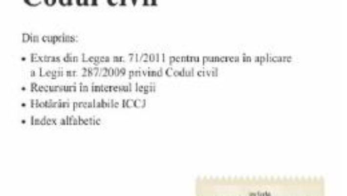 Cartea Codul civil. Actualizat 5.09.2019 (download, pret, reducere)