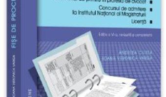 Cartea Fise de procedura civila Ed.6 – Andreea Ciurea, Ioana Veronica Varga (download, pret, reducere)