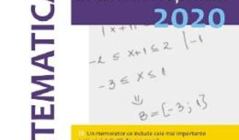Cartea Evaluarea Nationala 2020. Matematica – Clasa 8 – Gheorghe Iurea, Dorel Luchian (download, pret, reducere)