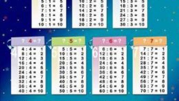 Cartea Invatam tabla impartirii – Plansa A2 (download, pret, reducere)
