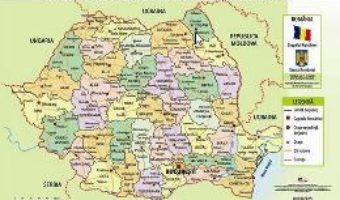 Download Harta administrativa a Romaniei – Plansa A2 PDF Online