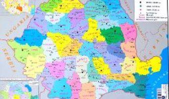 Cartea Harta de perete – Romania. Harta Administrativa + Harta Fizica (download, pret, reducere)