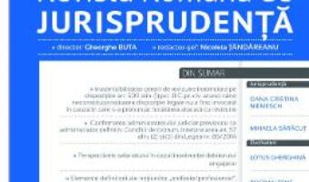 Pret Carte Revista romana de jurisprudenta 3 din 2017 – Gheorghe Buta, Nicoleta Tandareanu PDF Online