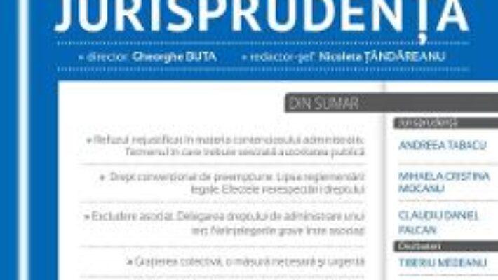 Pret Carte Revista romana de jurisprudenta 1 din 2017 – Gheorghe Buta, Nicoleta Tandareanu PDF Online