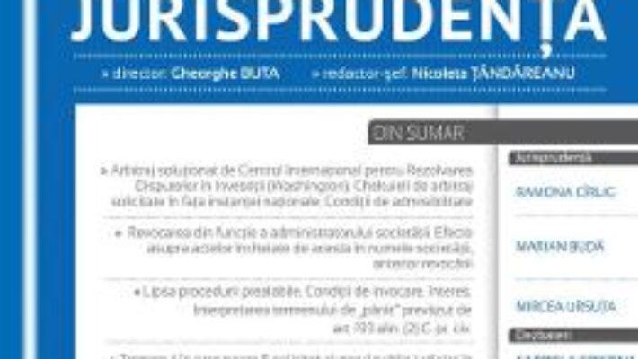 Pret Carte Revista romana de jurisprudenta 2 din 2017 – Gheorghe Buta, Nicoleta Tandareanu PDF Online