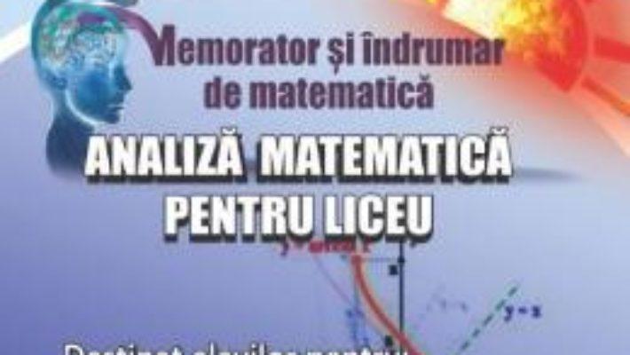 Carte Memorator analiza matematica pentru liceu – Gheorghe Adalbert Schneider PDF Online