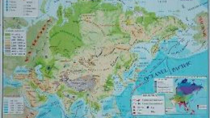 Carte Asia – Harta Fizica + Harta Politica A3 PDF Online
