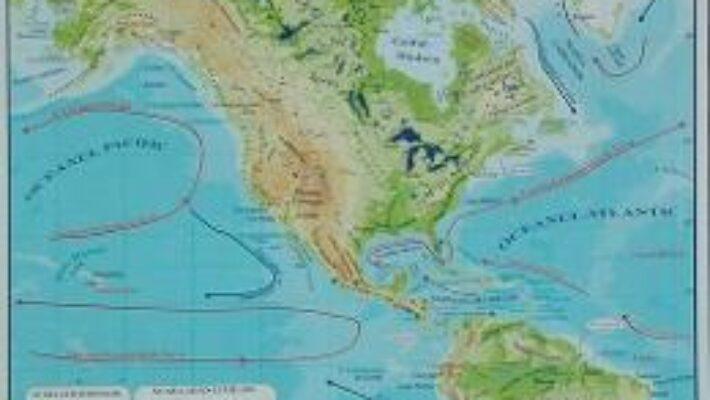 Carte America – Harta Fizica + Harta Politica A3 PDF Online