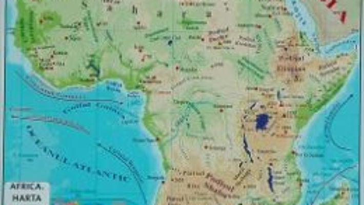 Carte Africa + Australia – Harta Fizica A3 PDF Online