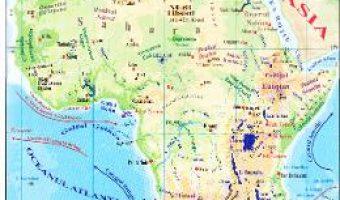 Carte Africa + Australia – Harta fizica 1:40.000.000 (pliata) PDF Online