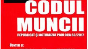 Cartea Codul muncii ed.2017 PDF Online