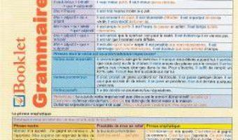 Cartea Plansa Grammaire Francaise 6 PDF Online
