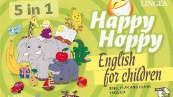 Cartea Happy Hoppy, English for children 5 in 1: Sing, play and learn english PDF Online
