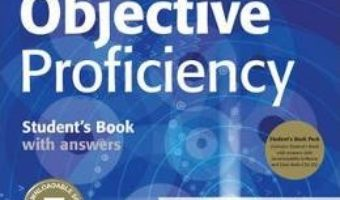 Cartea Objective Proficiency Student's Book Pack (Student's Book with Answers with Downloadable Software and Class Audio CDs (2)) – Annette Cape, Wendy Sharp (download, pret, reducere)