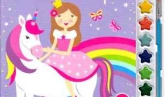 Cartea Unicornul magic. Pictam cu sclipici. Carte de colorat cu pensula si acuarele (download, pret, reducere)