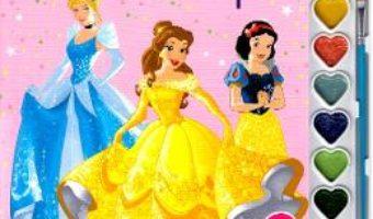 Cartea Disney: Printese. Pictam cu sclipici. Carte de colorat cu pensula si acuarele (download, pret, reducere)