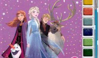 Cartea Disney: Regatul de gheata II. Pictam cu sclipici. Carte de colorat cu pensula si acuarele (download, pret, reducere)
