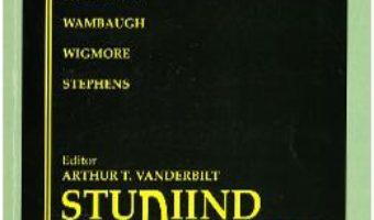 Cartea Studiind dreptul – Arthur T. Vanderbilt (download, pret, reducere)