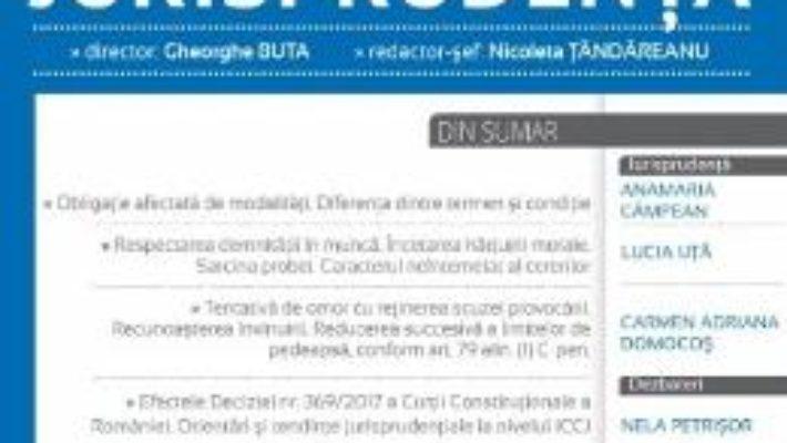 Cartea Revista romana de jurisprudenta Nr. 6 din 2017 (download, pret, reducere)