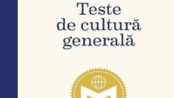 Cartea Teste de cultura generala. Mensa (download, pret, reducere)