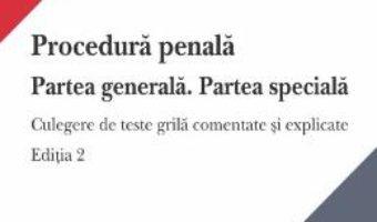 Cartea Procedura penala. Partea generala. Partea speciala – Andrei Zarafiu (download, pret, reducere)