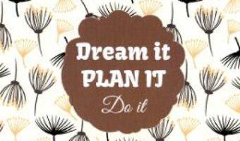 Cartea Agenda PlanIT: Dream It Do It – crem (download, pret, reducere)