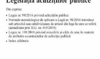 Cartea Legislatia achizitiilor publice Act. 7.01.2020 (download, pret, reducere)
