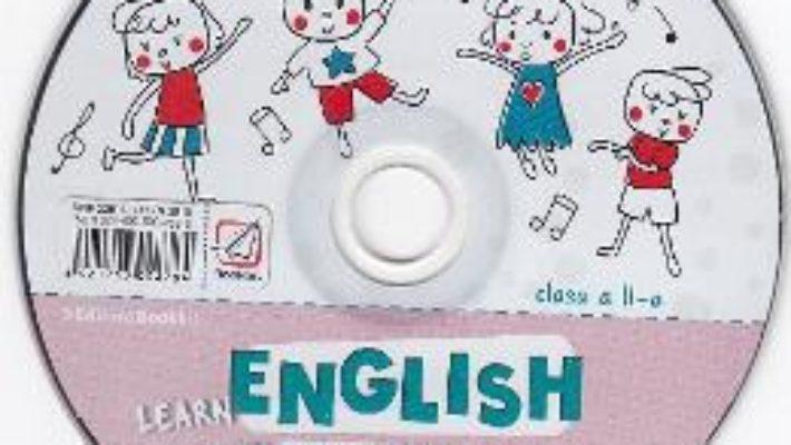 Cartea CD Learn English with Music – Clasa 2 – Elena Sticlea (download, pret, reducere)