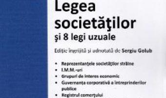 Cartea Legea societatilor si 8 legi uzuale Ed.2020 (download, pret, reducere)