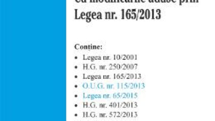 Cartea Legea Nr. 10 Din 2001 Act. 7 Aprilie 2015 pdf