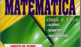 Carte Matematica Cls 9 – Sinteze De Teorie, Exemple Rezolvate. Exercitii Si Probleme – Catalin-Petru Nicol PDF Online