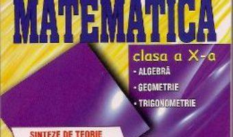 Carte Matematica Cls 10 – Sinteze de teorie, Exemple rezolvate. Exercitii si probleme – Catalin-Petru Nicolescu PDF Online